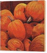Farm Market Pumpkins Wood Print