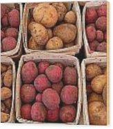Farm Potatoes Wood Print