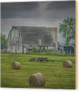 Farm Scene Wood Print
