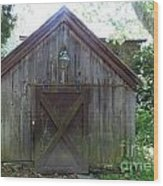 Farm Shed Wood Print