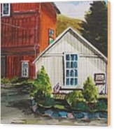 Farm Store Wood Print
