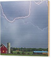 Farm Storm Hdr Wood Print