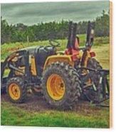 Farm Tractor Wood Print
