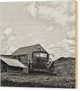Farm Truck - 1941 Chevy In Sepia Wood Print
