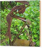 Farm Worker Wood Print