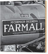 Farmall F-14 Tractor II Wood Print by Clarence Holmes