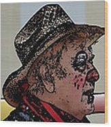 Farmer Clown Wood Print