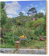 Farmer Maggot Garden Wood Print