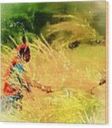 Farmers Fields Harvest India Rajasthan 1a Wood Print