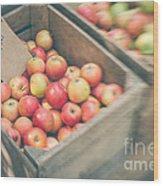 Farmers' Market Apples Wood Print