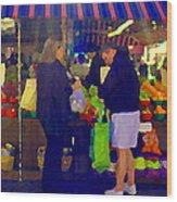 Farmers Market Bushels And Baskets Of Apples Fruit And Vegetables Food Art Scenes Carole Spandau Wood Print