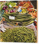 Farmers Market Florence Italy Wood Print