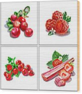 Farmers Market Gifts Red Vitamins Wood Print