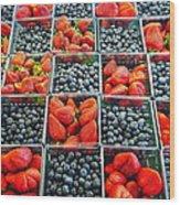 Farmers Market Wood Print