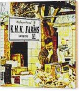 Farmers Market Vendor Wood Print