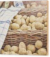 Farmers Potatoes Wood Print