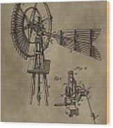 Farmer's Windmill Wood Print
