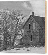 Farmhouse Black And White Wood Print