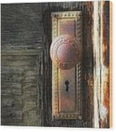 Farmhouse Doorknob Wood Print