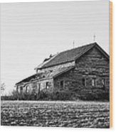 farmhouse in spring - Old Barns Wood Print