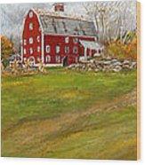 Red Barn Art- Farmhouse Inn At Robinson Farm Wood Print
