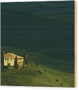 Farmhouse Tuscan Wood Print by Andrew Soundarajan
