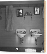 Farmhouse Washroom, 1936 Wood Print