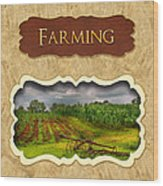 Farming And Country Life Button Wood Print