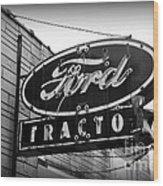 Farming - Ford Tractors Wood Print