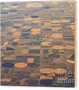 Farming In The Sky 2 Wood Print