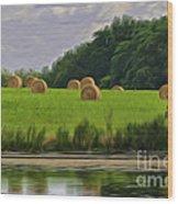 Farming Reflection Wood Print