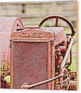 Farming Relic Wood Print