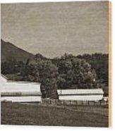 Farming The Shenandoah  Wood Print