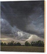 Farmland Storm Wood Print