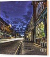 Farnham West St By Night Wood Print