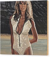 Farrah Fawcett Painting Wood Print