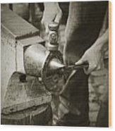 Farrier Making Horseshoe Wood Print