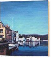 Farsund Dock Scene I Wood Print