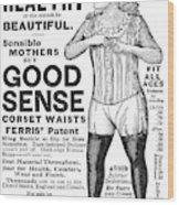 Fashion Corset, 1890 Wood Print