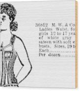 Fashion Corset, 1895 Wood Print