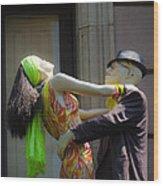 Fashion Dolls Dancing Wood Print