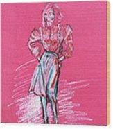 Fashion Figure Wood Print