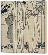 Fashion For Men Circa 1915 Wood Print
