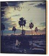 Fashion Island Palms Wood Print