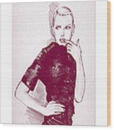 Fashion Sketch 96 Wood Print