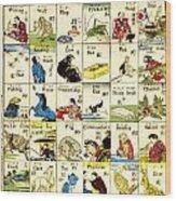 Fashionable Melange Of English Words 1887 Wood Print