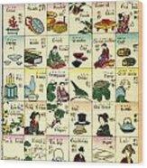 Fashionable Melange Of English Words Wood Print