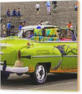 Fast And Furious In Cuba Wood Print