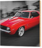 Fast Camaro Wood Print by Phil 'motography' Clark