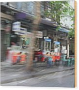 Fast Paced City Life - Bangkok Thailand - 01132 Wood Print by DC Photographer